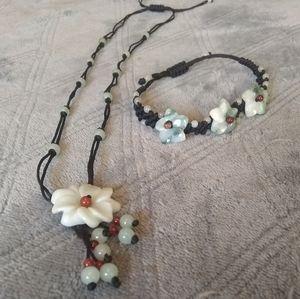 Jade Necklace & Bracelet